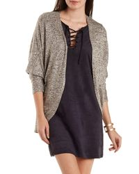 Charlotte Russe - Multicolor Lightweight Marled Cocoon Cardigan - Lyst