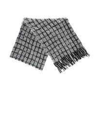 Charlotte Russe - Gray Fuzzy Yarn Sequin Detail Scarf - Lyst