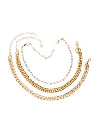 Charlotte Russe - Metallic Chainlink Necklaces - 3 Pack - Lyst