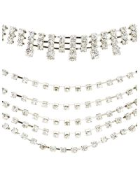 Charlotte Russe - Metallic Crystal Layered Choker Necklace - Lyst