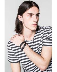 Cheap Monday - Black Mad Skull Bracelet for Men - Lyst