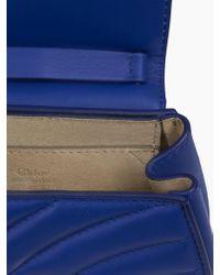 Chloé Blue Nano Drew Bijou Shoulder Bag