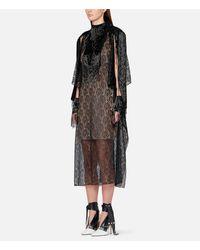 Christopher Kane Black Lace Fringe Sleeve Dress