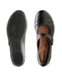 Clarks Black Cushion Osft Everlay Kennon Mary Jane Shoes