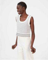 Club Monaco White Multi Zloane Sweater