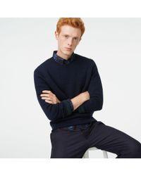 Club Monaco - Blue Double-knit Stripe Rollneck for Men - Lyst