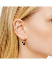 Club Monaco - Black Bibi Hoop Earrings - Lyst
