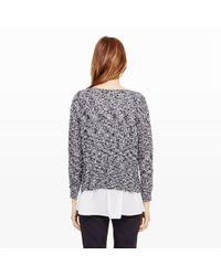 Club Monaco - Black Jayda Silk-layered Sweater - Lyst