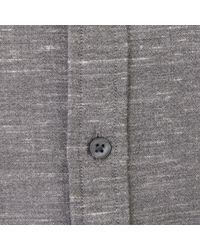 Club Monaco - Gray Slim Melange Shirt for Men - Lyst