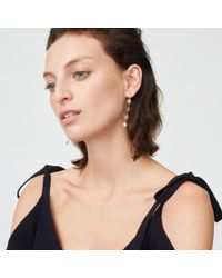 Club Monaco - Metallic Crystal Disk Earring - Lyst