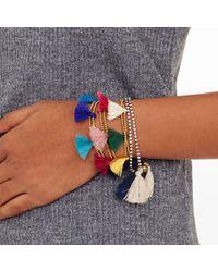 Club Monaco | Blue Tassel Bracelet | Lyst