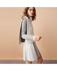 Club Monaco - Gray Carly Pleated Skirt - Lyst