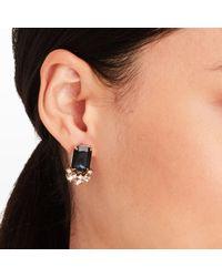 Club Monaco   Blue Evening Crystal Stone Earrings   Lyst