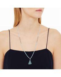Club Monaco - Blue Crystal Necklace - Lyst