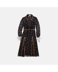 COACH Black Embellished Penguin Shirt Dress