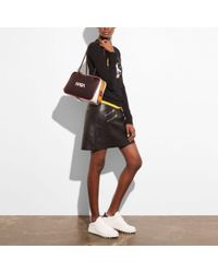 COACH Multicolor Dylan Satchel With Embossed Space
