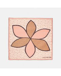COACH Multicolor Marguerite Patchwork Oversized Square
