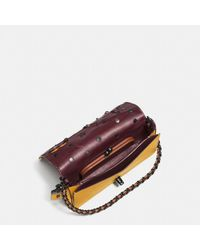 COACH Multicolor Dinky In Glovetanned Leather With Linked Tea Rose