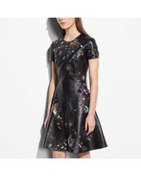 COACH Black Circle Dress With Leather Sequins
