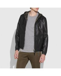 COACH Black Hooded Zip Jacket for men