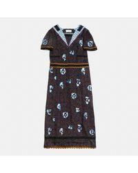 COACH Black Wild Beast Nautical Dress