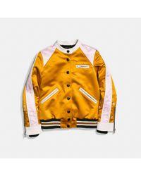 COACH Multicolor Varsity Racer Jacket