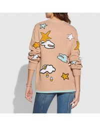 COACH Multicolor Outerspace Intarsia Sweater