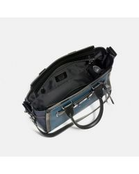 COACH - Black Swagger 27 In Mixed Leathers - Lyst