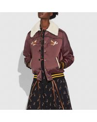 COACH Multicolor Reversible Montana Varsity Puffer