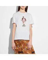 COACH White Embellished Sundae T-shirt