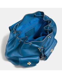 COACH | Blue Metropolitan Rucksack In Pebble Leather | Lyst