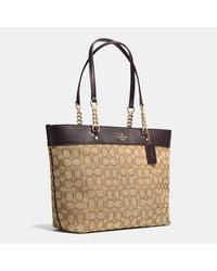 COACH - Brown Sophia Tote In Signature Canvas - Lyst