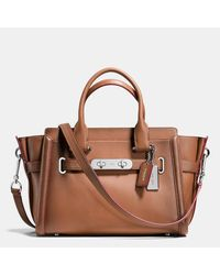 COACH Brown Swagger 27 In Burnished Leather