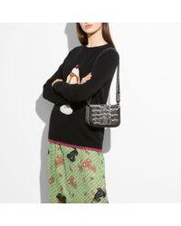 COACH Black Sundae Intarsia Sweater