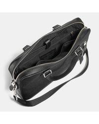 COACH Black Hudson Bag 5 In Crossgrain Leather for men
