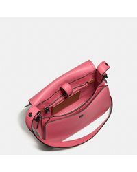COACH - Pink Saddle 23 In Glovetanned Leather - Lyst