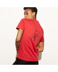 COACH - Red Mickey T-shirt for Men - Lyst