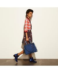 COACH - Blue Rogue 36 Suede Tote Bag - Lyst