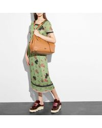 COACH Multicolor Large Market Tote With Whiplash Detail