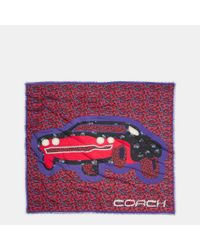 COACH | Red Cars Patchwork Oversized Square | Lyst