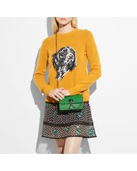COACH Green Bowery Crossbody In Refined Calf Leather With Rebel Charm