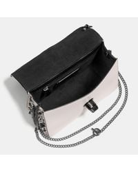 COACH Multicolor Bowery Crossbody In Polished Pebble Leather With Rebel Charm