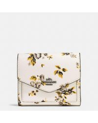 COACH Multicolor Small Wallet In Prairie Print Coated Canvas