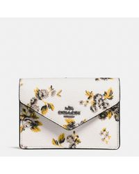COACH Multicolor Envelope Card Case In Prairie Print Coated Canvas