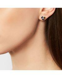 COACH   Metallic Studded Heart Stud Earrings   Lyst