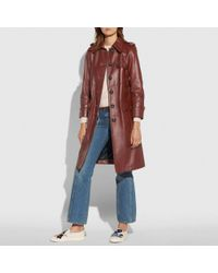 COACH Multicolor Leather Trench