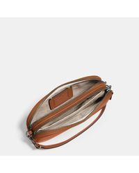 COACH - Brown Mickey Crossbody Clutch In Glovetanned Leather - Lyst