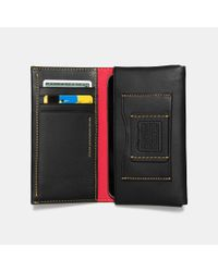 COACH - Black Mickey Phone Wallet In Glovetanned Leather for Men - Lyst