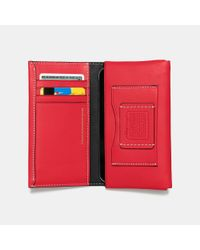 COACH - Red Mickey Phone Wallet In Glovetanned Leather - Lyst
