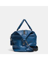 COACH | Black Explorer Bag In Pebble Leather | Lyst